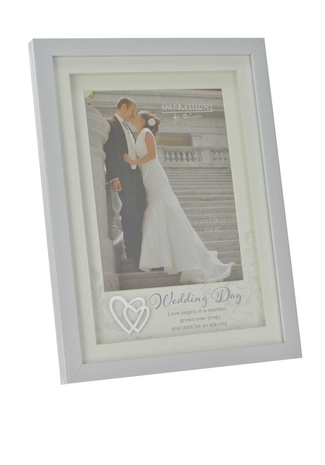 "Impressions by Juliana Wedding Day Photo Frame, 8"" x 10"""