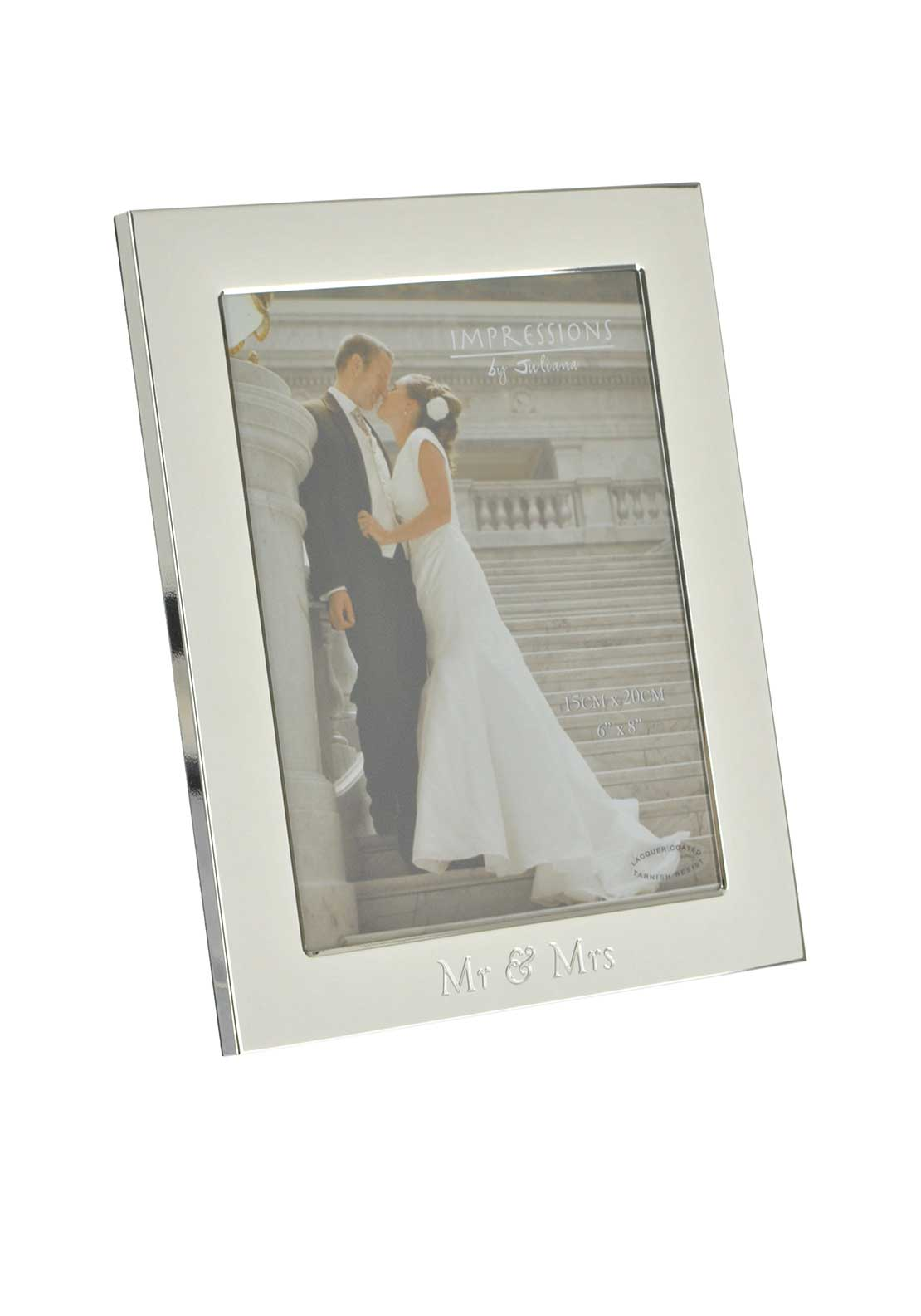 "Impressions by Juliana Mr & Mrs Silver Plated Photo Frame, 6"" x 8"""