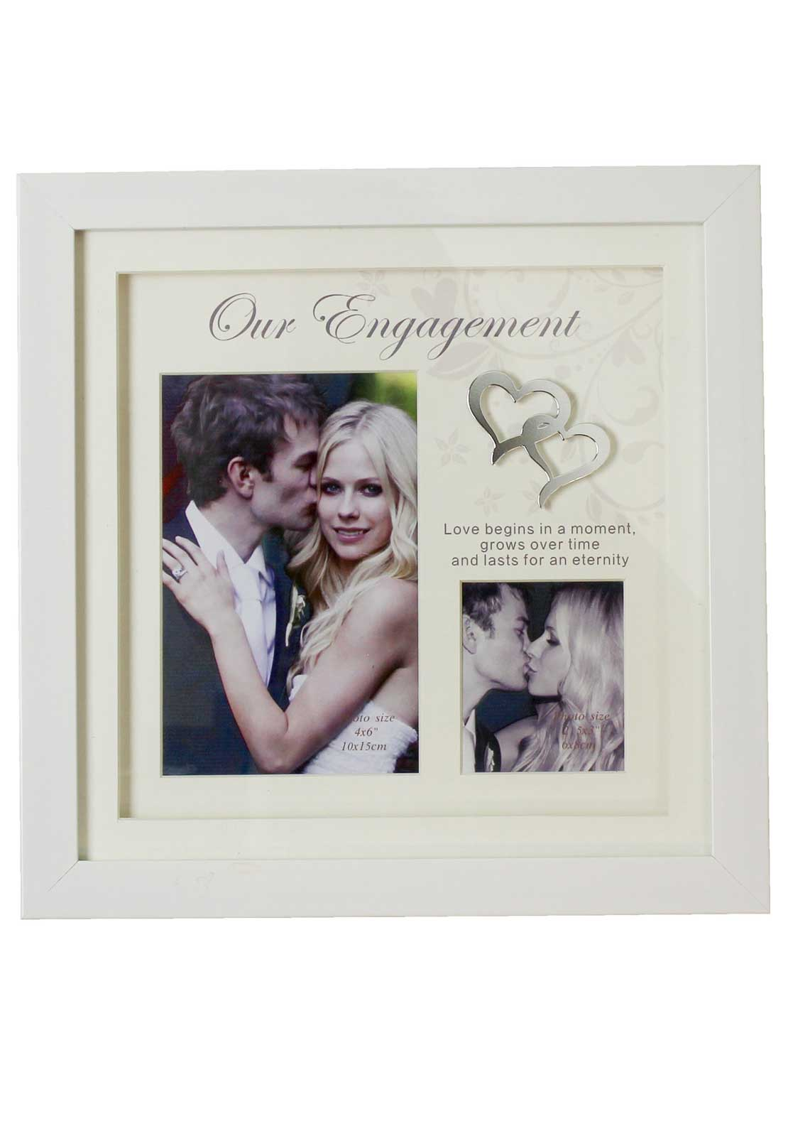 Juliana Our Engagement Double Photo Frame