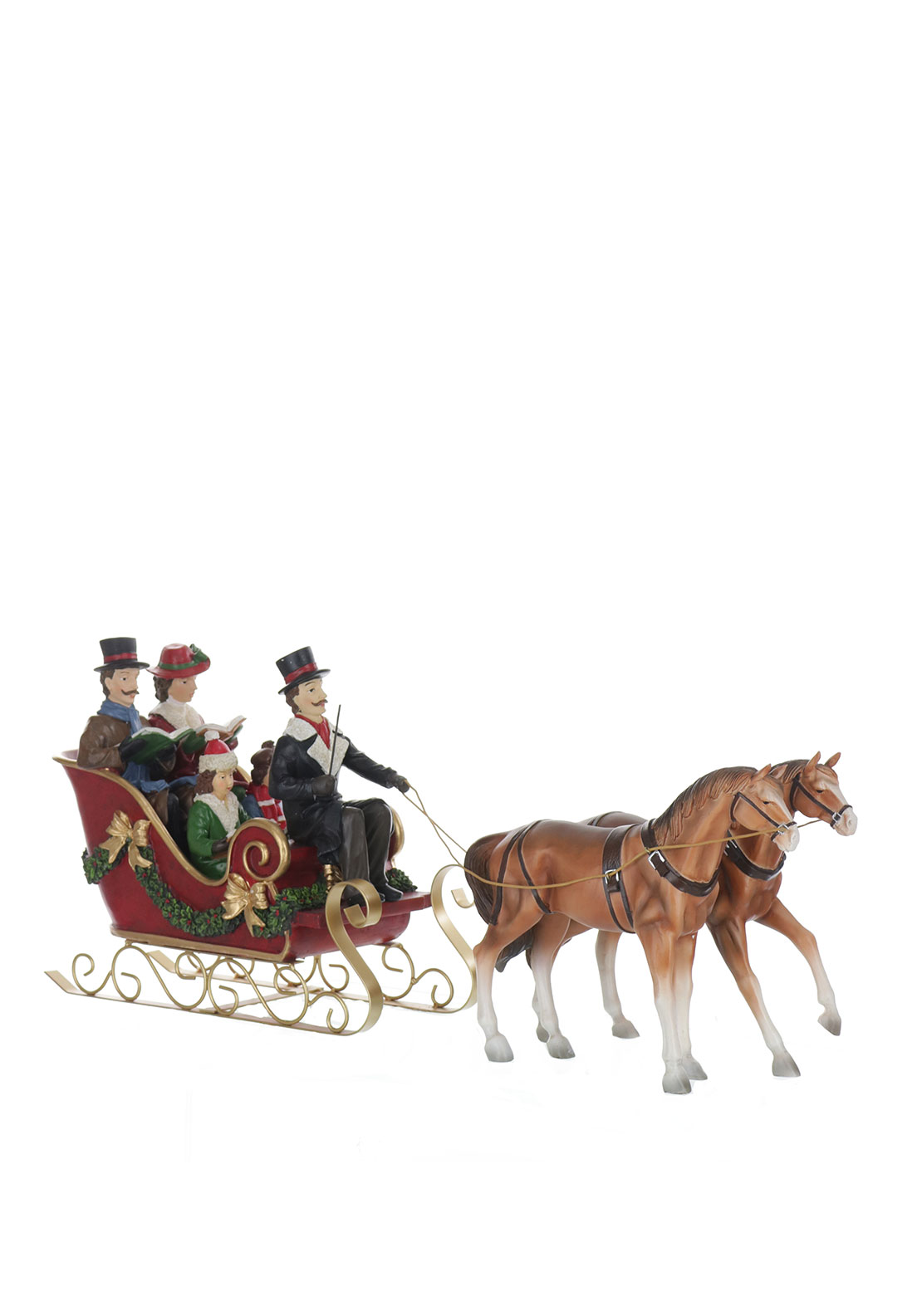 Willow Brooks Christmas Choir Family On Sleigh Ornament
