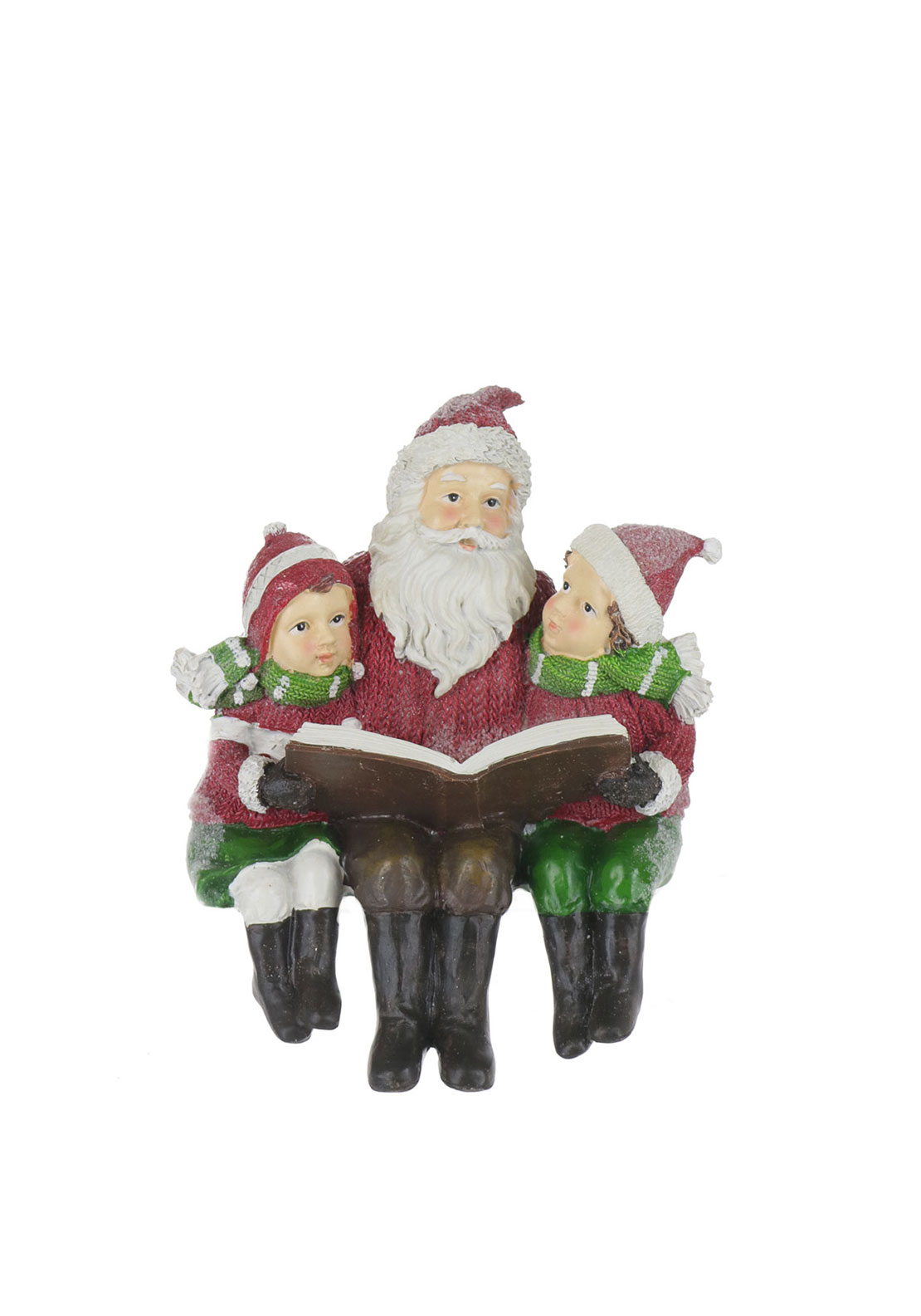 Willow Brooks Christmas Sitting Santa Ornament