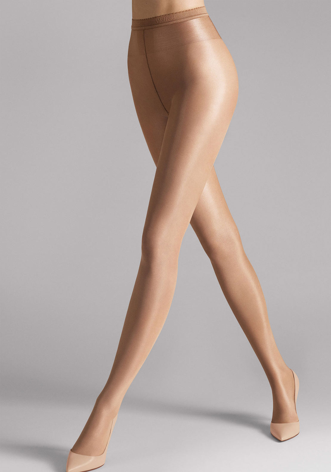 Wolford Neon 40 Semi Sheer Tights, Gobi