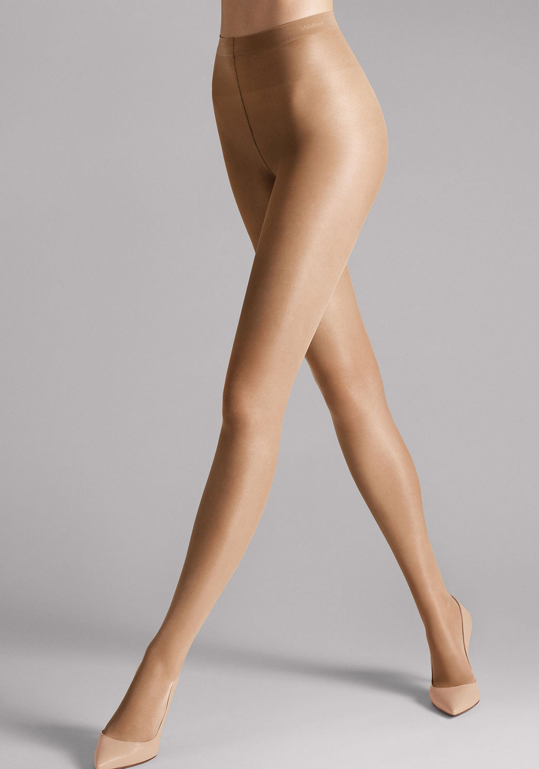 Wolford Satin Touch 20 Sheer Tights, Caramel