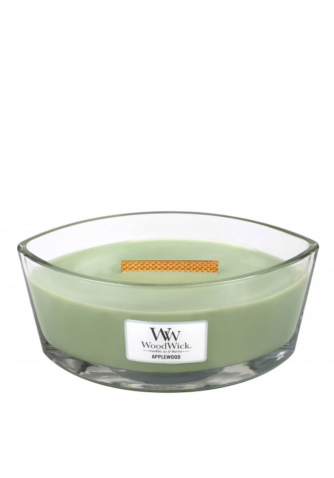 WoodWick Hearthwick Flame Large Candle, Applewood