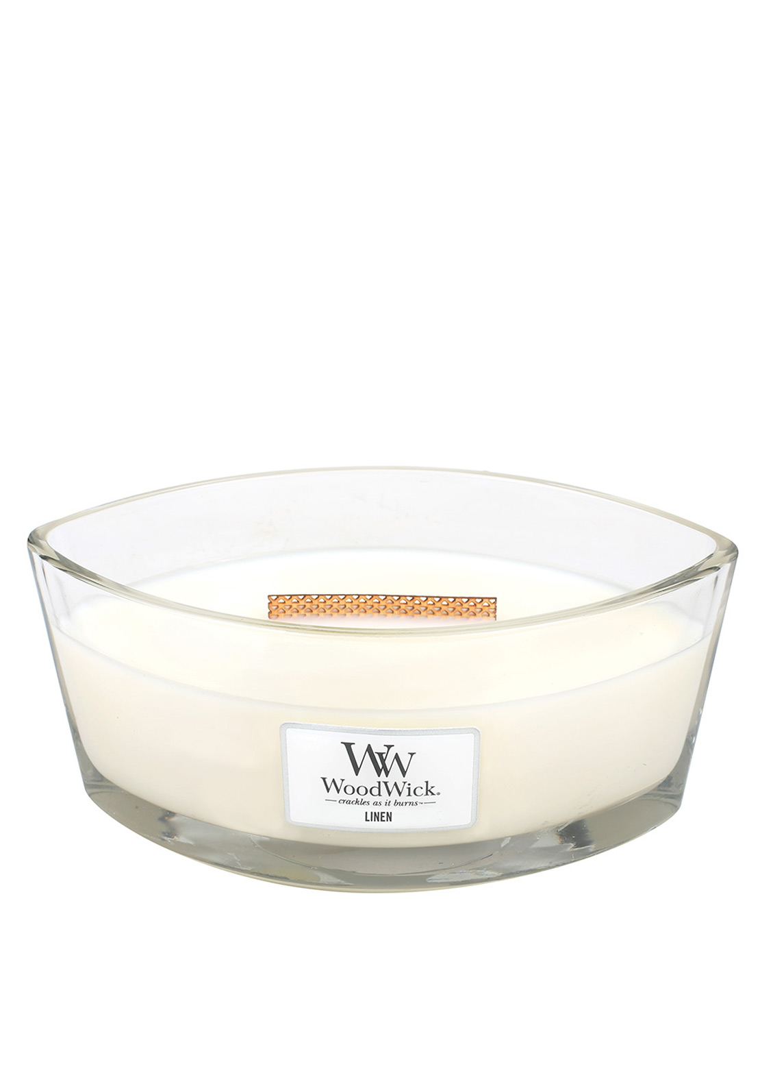 WoodWick Hearthwick Flame Large Candle, Linen
