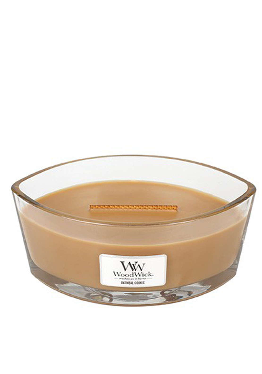 WoodWick Hearthwick Flame Large Candle, Oatmeal Cookie