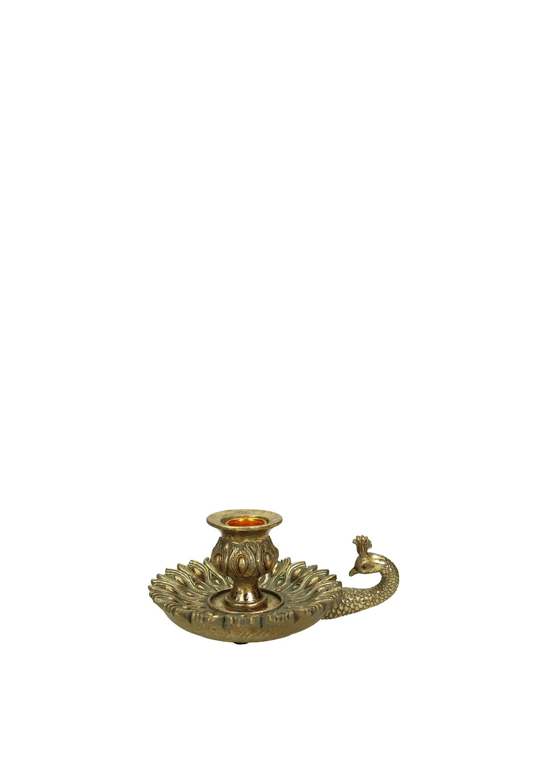 Kersten Peacock Candle Holder, Gold