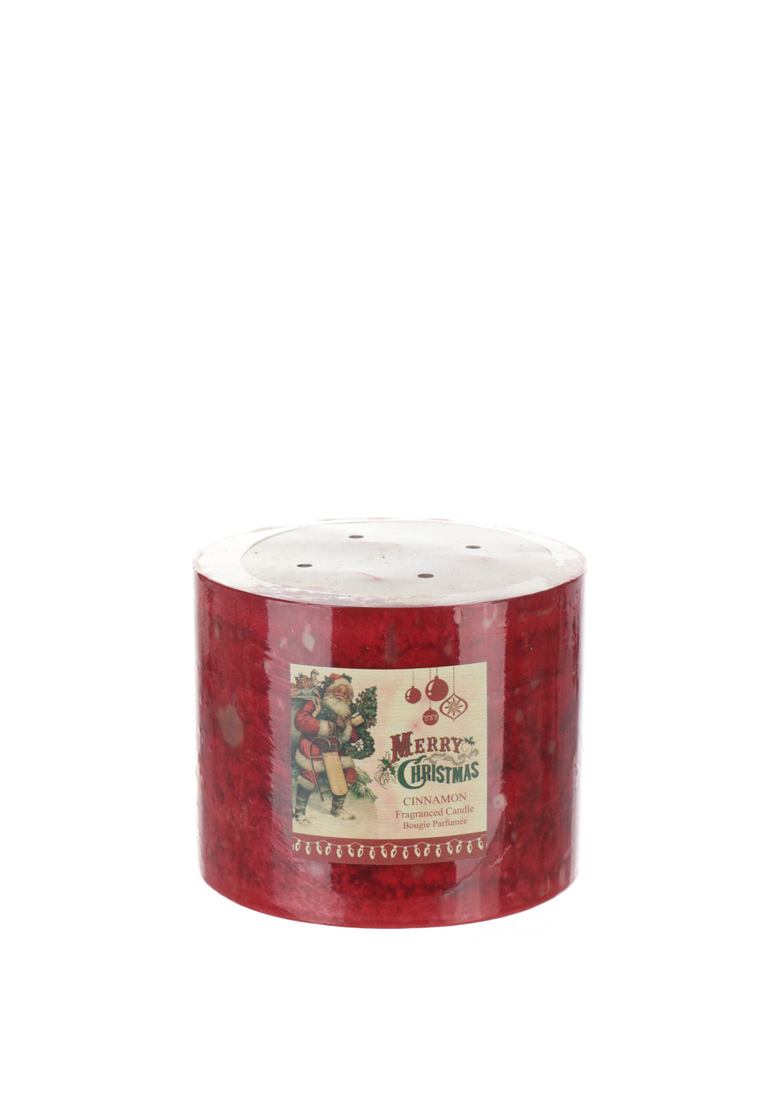 Red Christmas Cinnamon Candle
