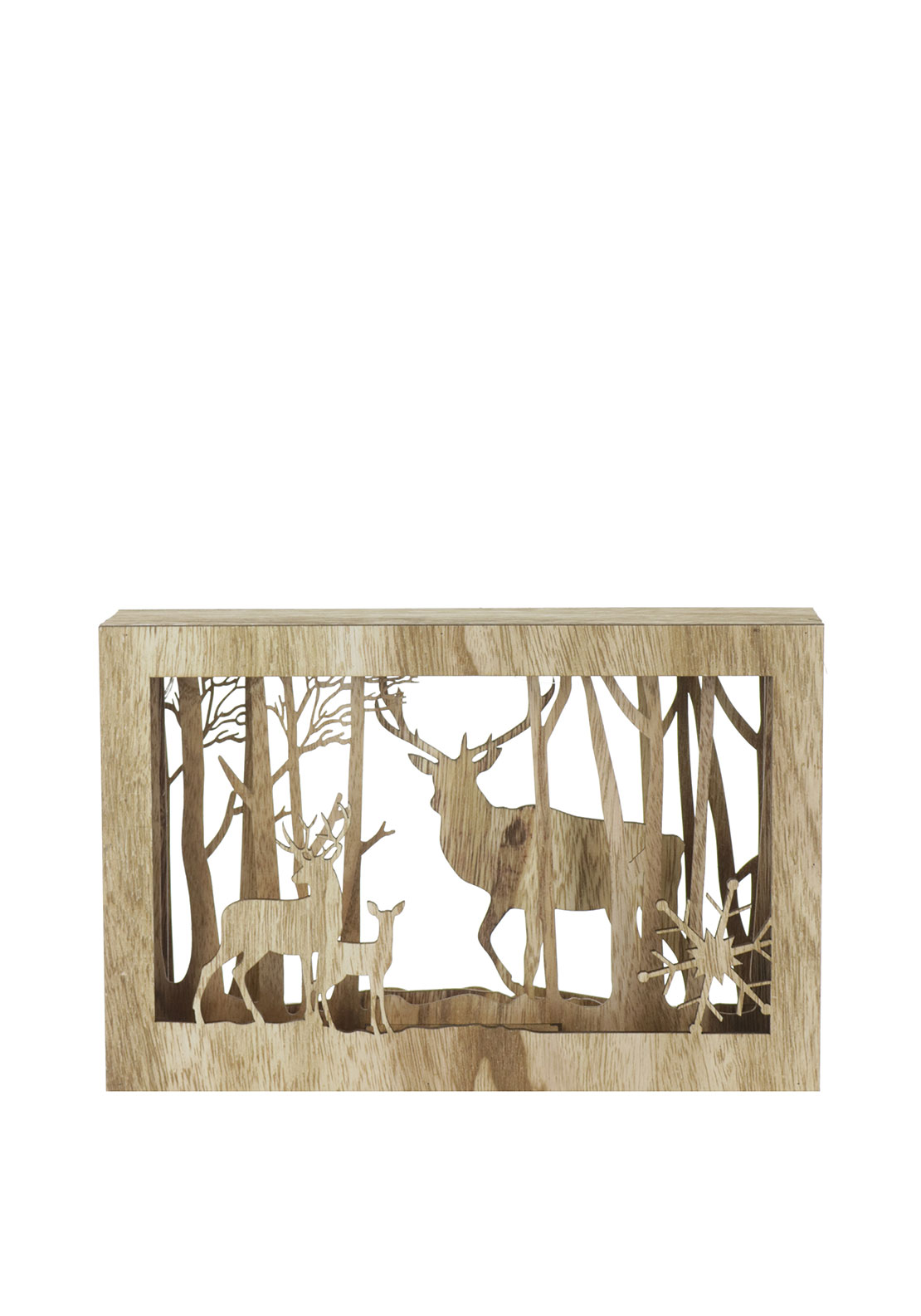 Christmas Decoration LED Stag Box Frame