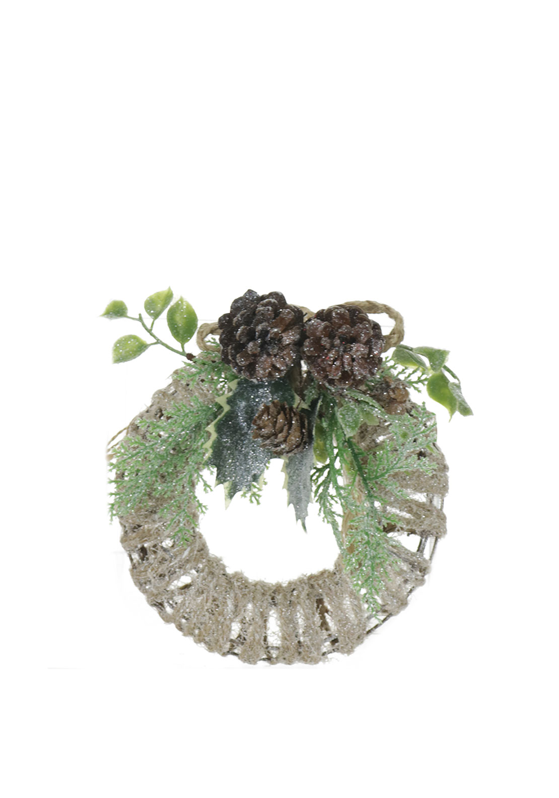Hanging Christmas Frosted Wreath Decoration