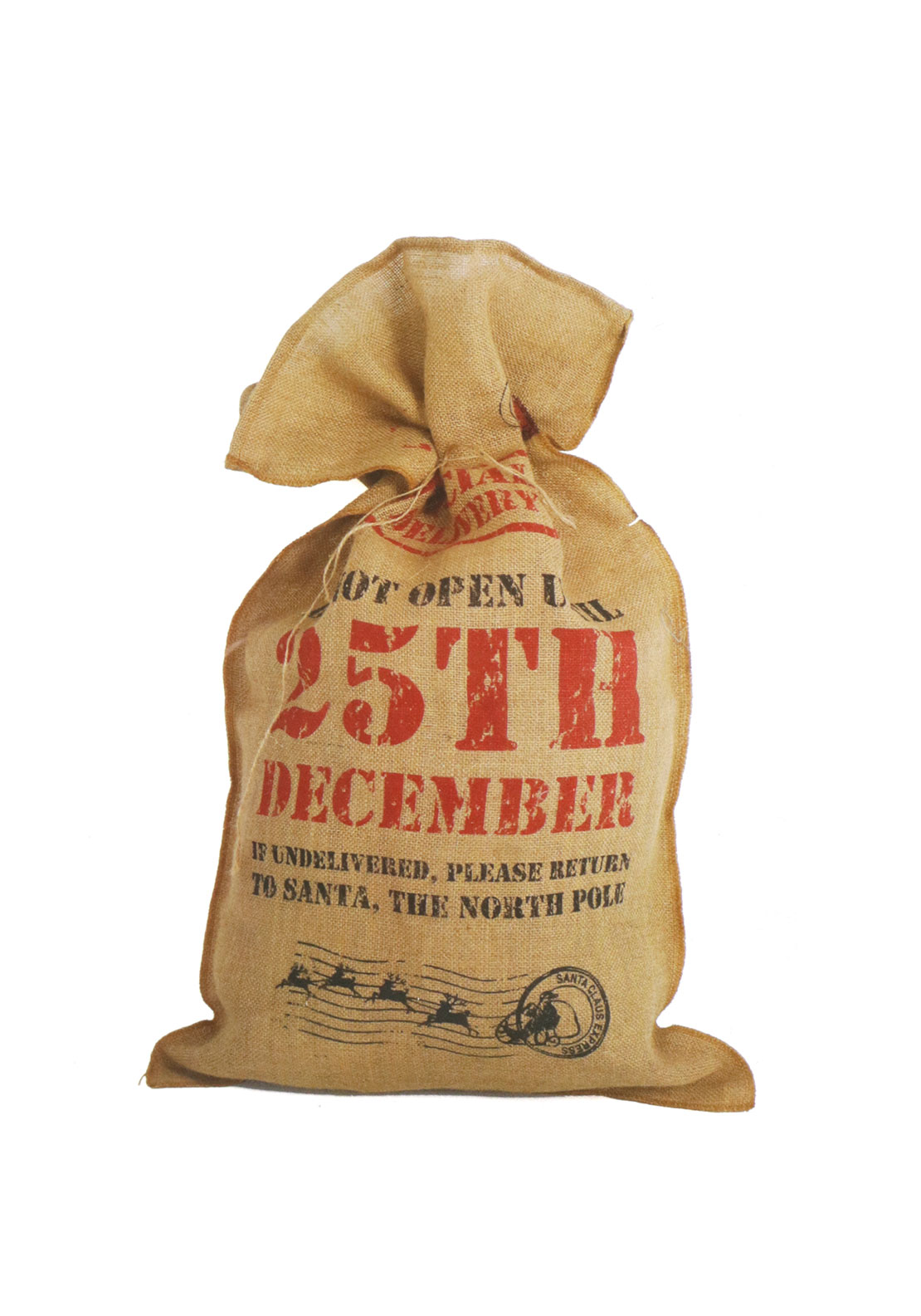 Christmas Hessian Toy Sack