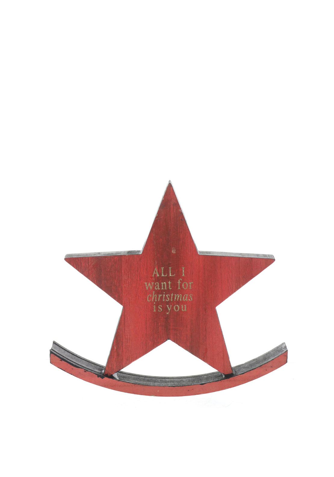 Christmas Free Standing Rocking Star Decoration, Red