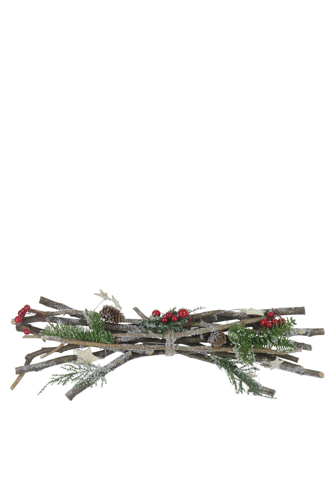 Christmas Wooden Twig Log Decoration