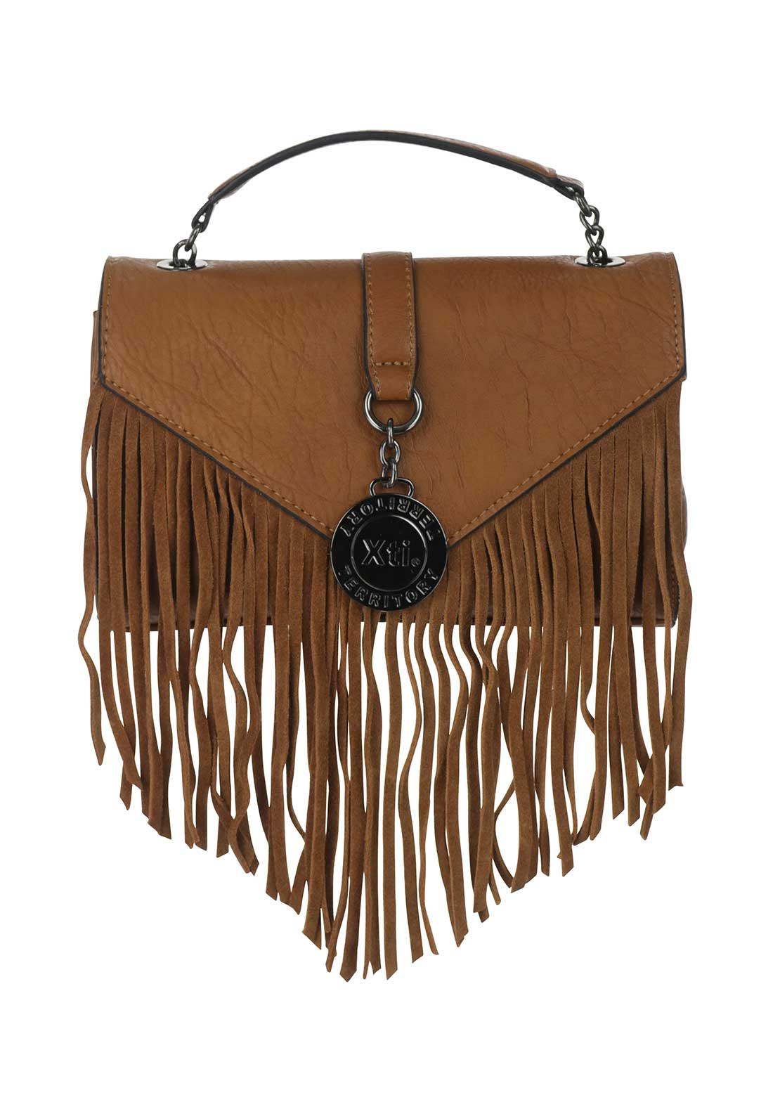 Xti Fringed Crossbody Bag, Tan