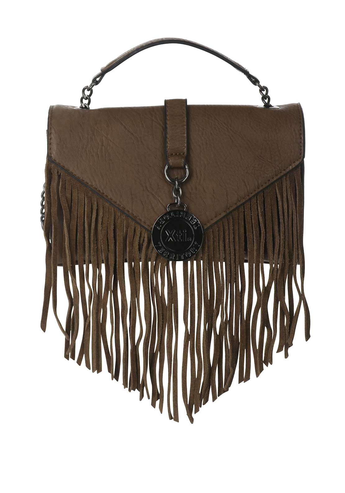 Xti Fringed Crossbody Bag, Brown