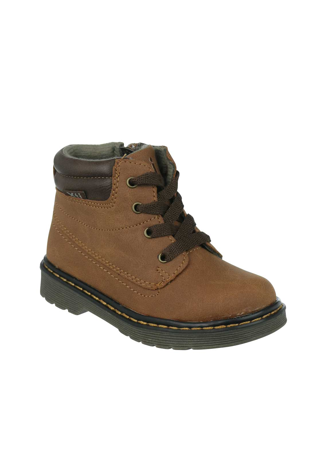 Xti Boys Faux Leather Ankle Boots, Brown