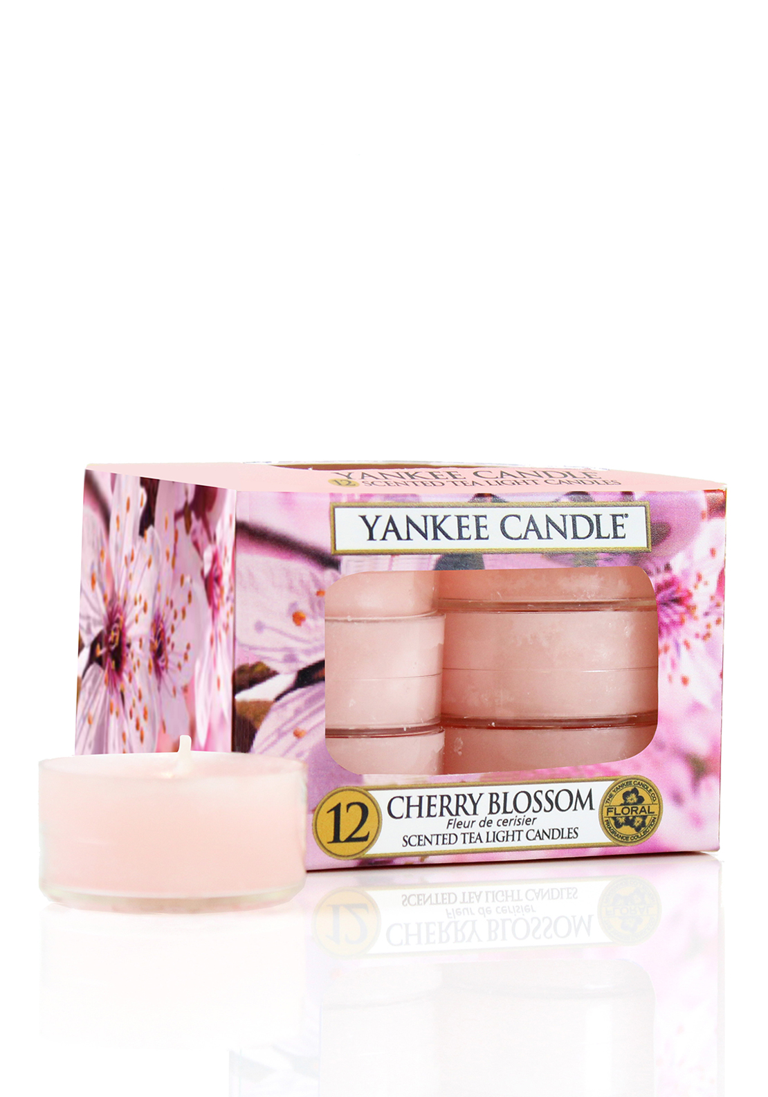 Yankee Candle Scented Tealight Candle, Cherry Blossom