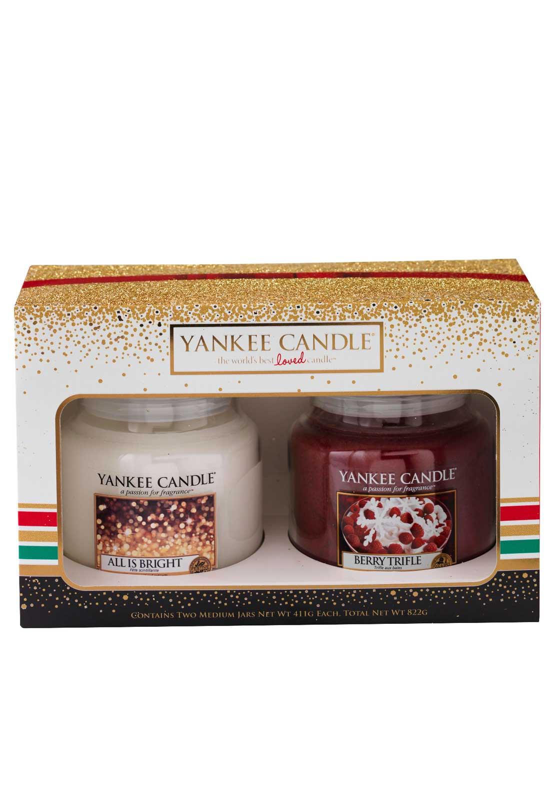 Yankee Candle Holiday Party Two Medium Jar Set