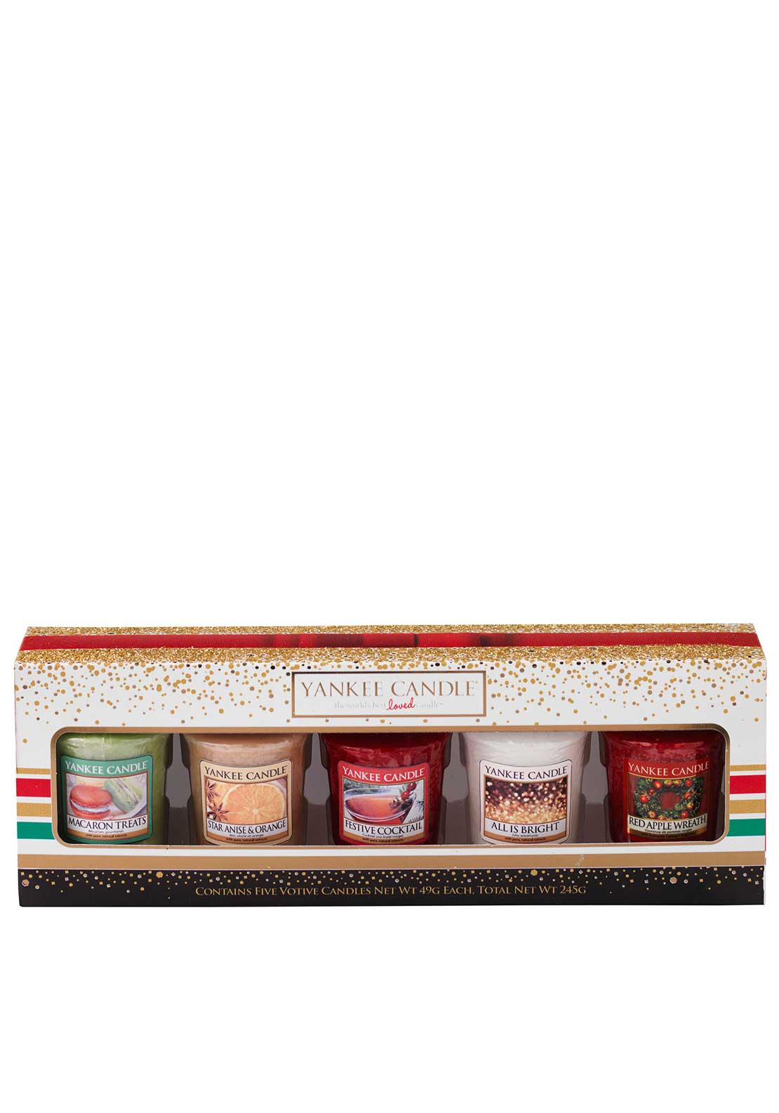 Yankee Candle Holiday Party 5 Votive Candle Set