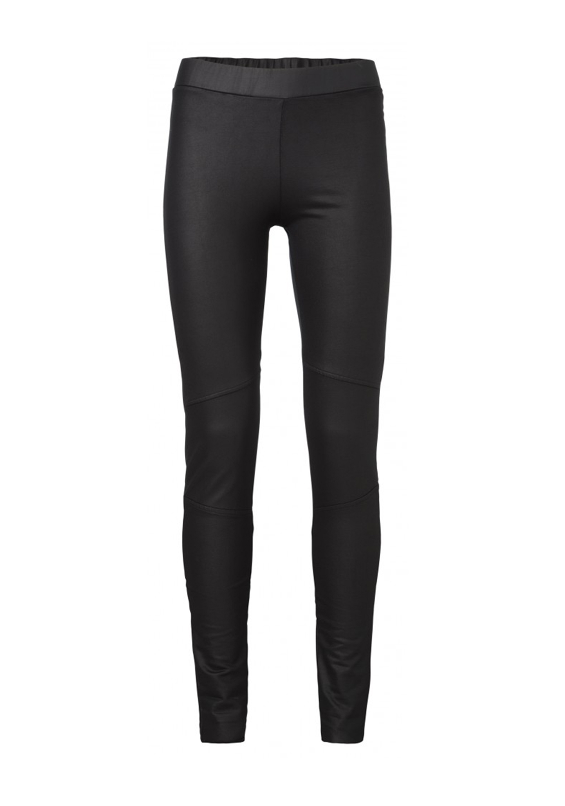 Yaya Coated Leather Look Leggings, Black