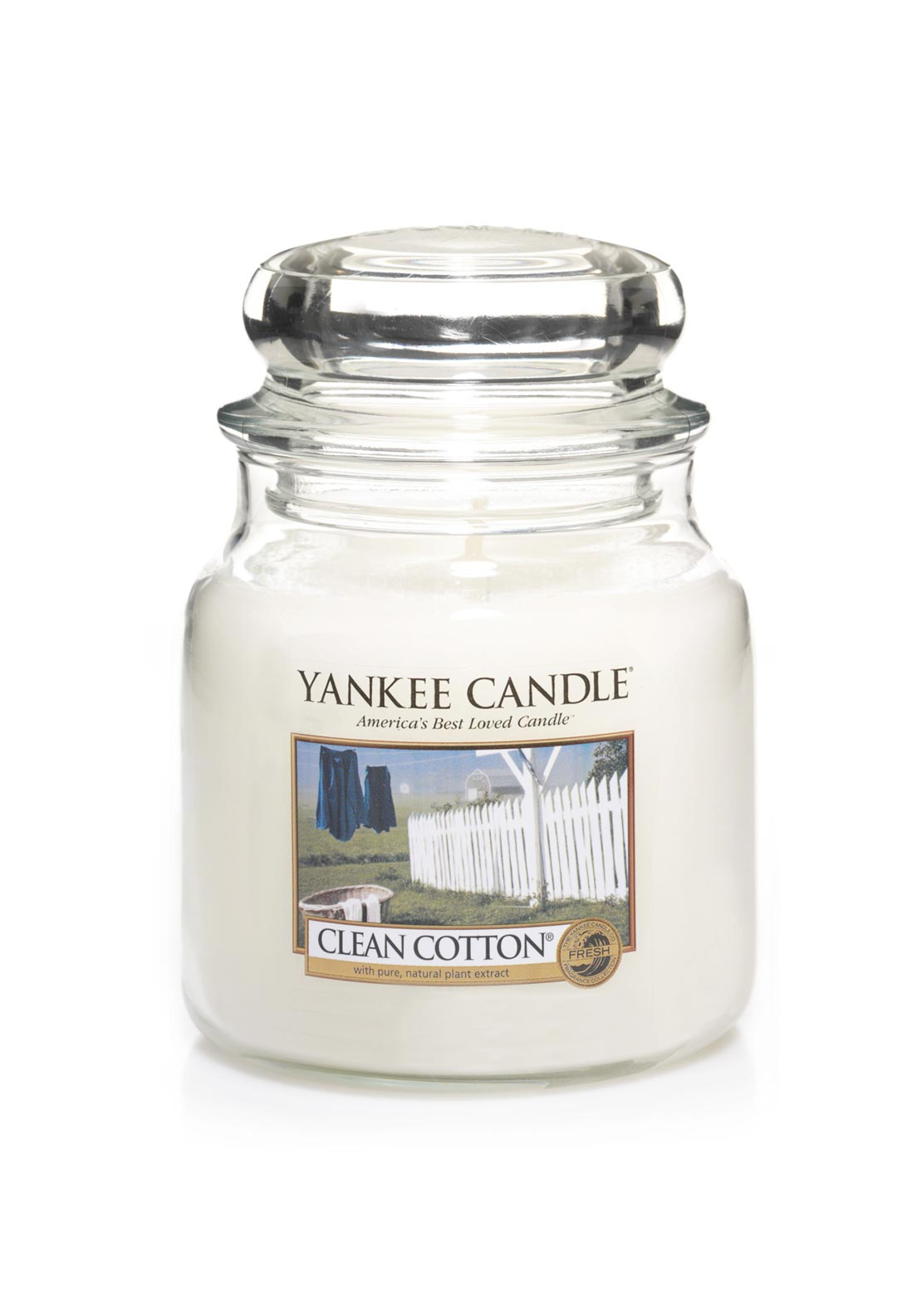 Yankee Candle Medium Classic Jar, Clean Cotton
