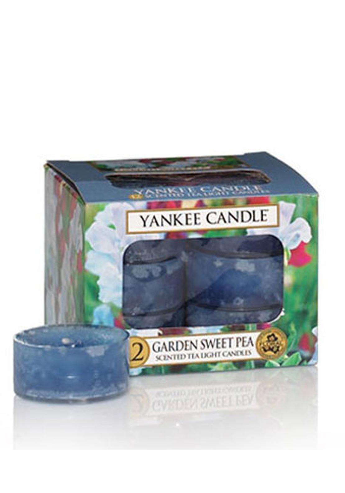 Yankee Candle 12 Scented Tea Light Candles, Garden Sweet Pea