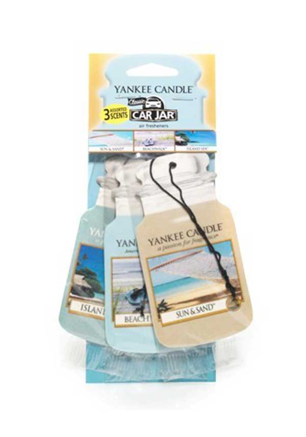 Yankee Candle Car Jar 3 pack Assorted, Beach Vacation