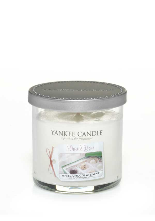 "Yankee Candle ""Thank You"" Small Candle, White Chocolate Mint"