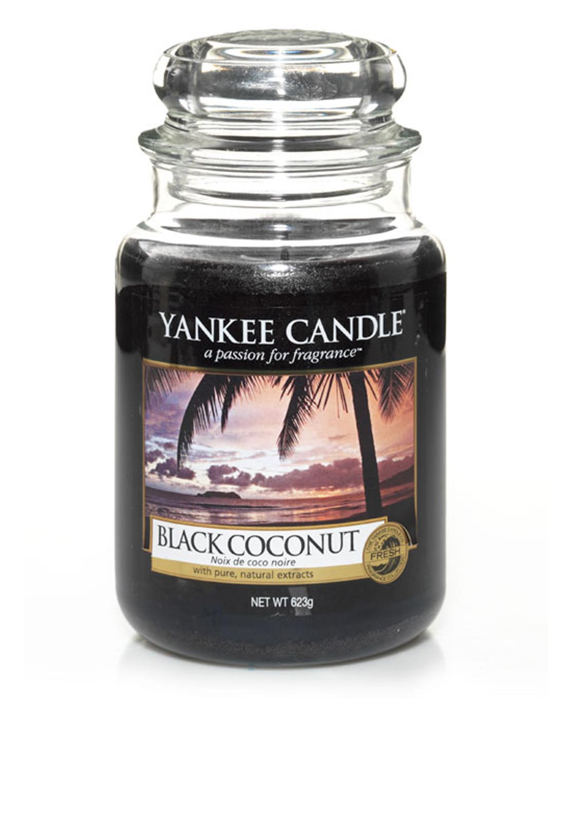 Yankee Candle Large Classic Jar, Black Coconut