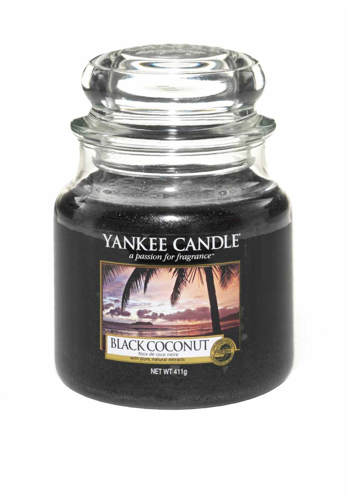 Yankee Candle Medium Classic Jar, Pink Grapefruit, Black Coconut