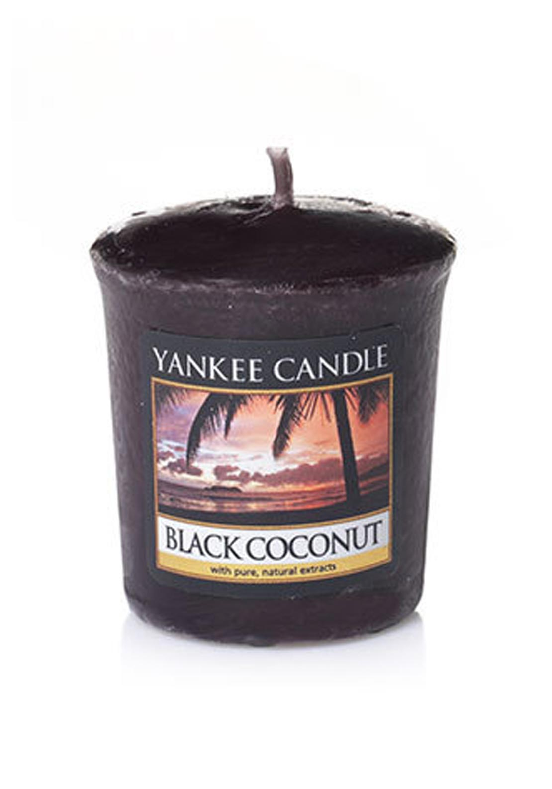 Yankee Candle Sample Votive Candle, Black Coconut
