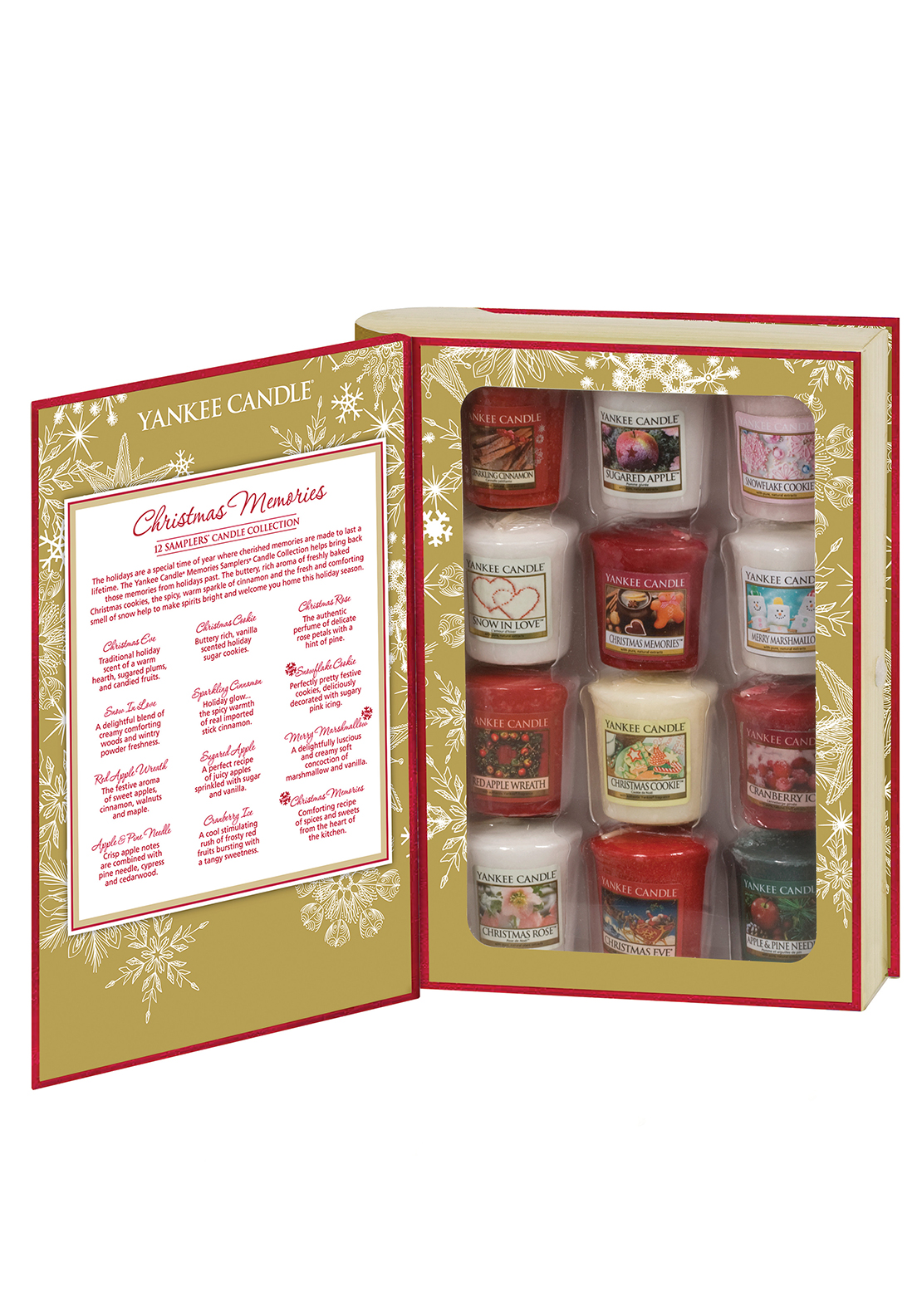 Yankee Candle Christmas Memories, 12 Votive Gift Book