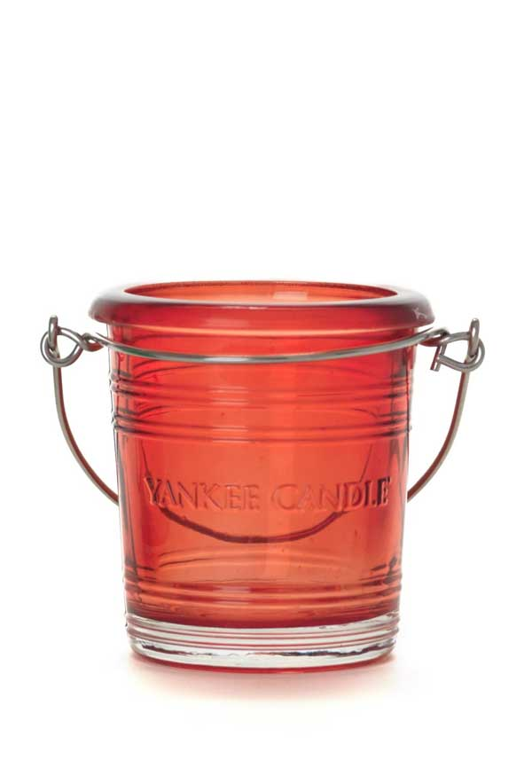 Yankee Candle Bucket Votive Holder, Ruby