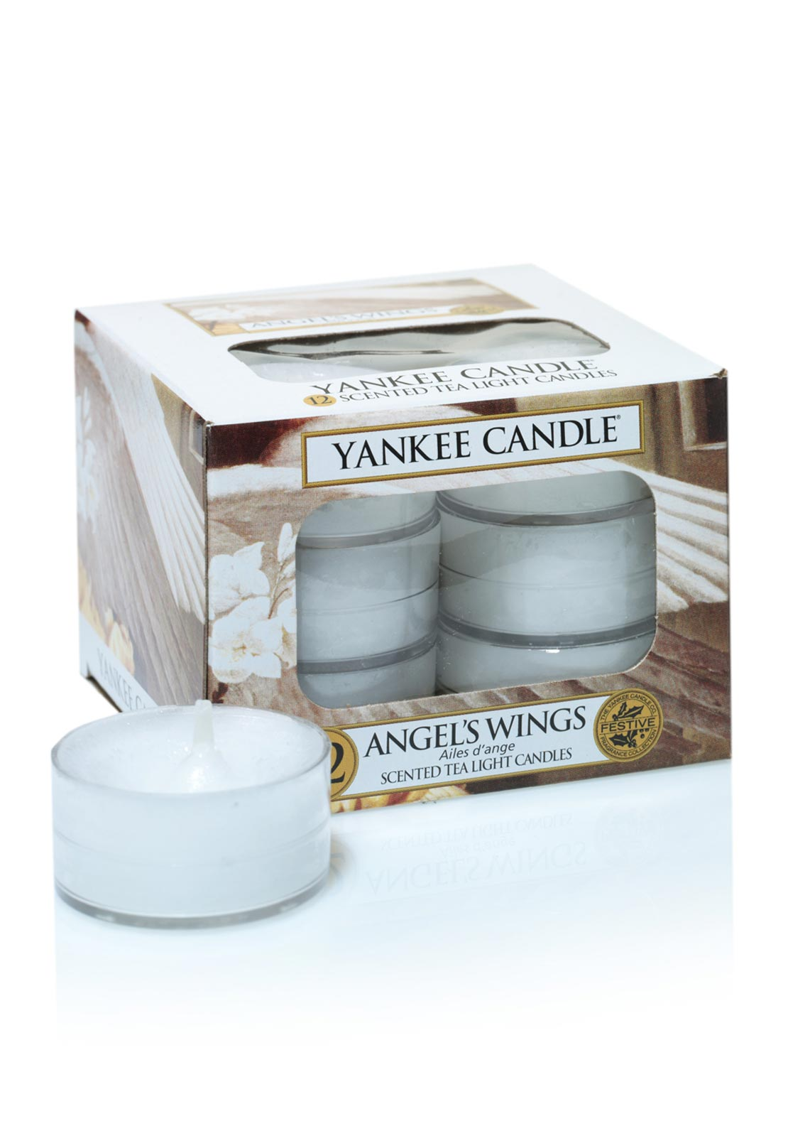 Yankee Candle 12 Scented Tea Light Candles, Angels's Wings
