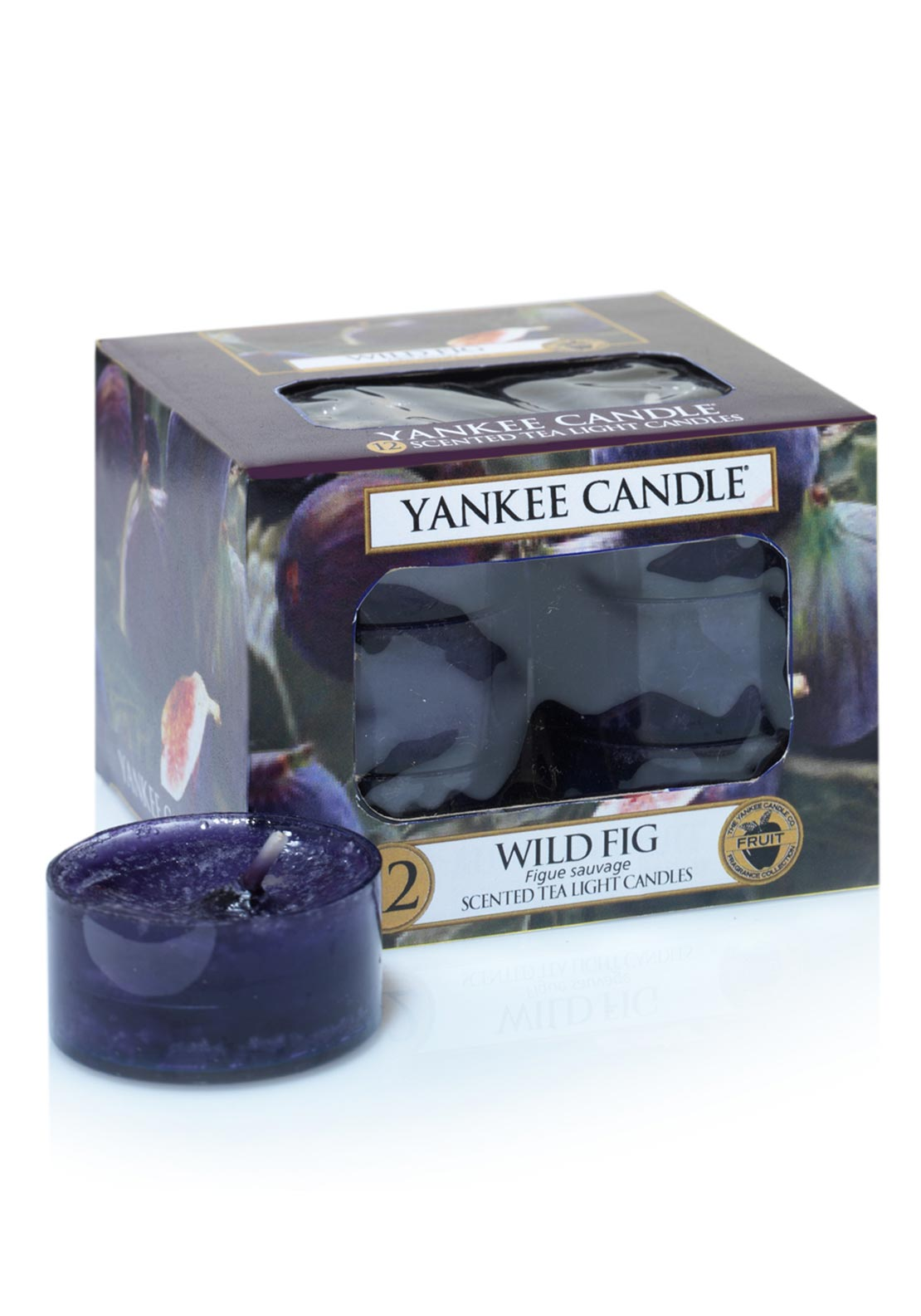 Yankee Candle 12 Scented Tea Light Candles, Wild Fig