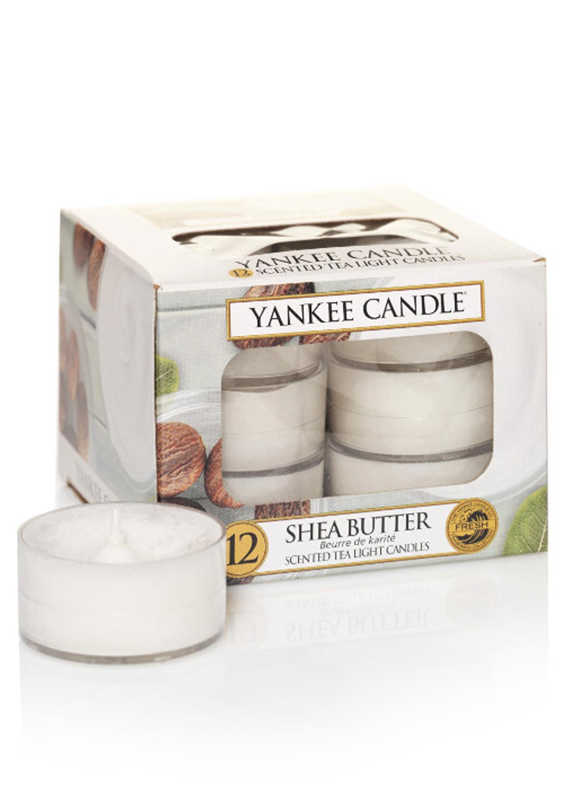 Yankee Candle 12 Scented Tea Light Candles, Shea Butter