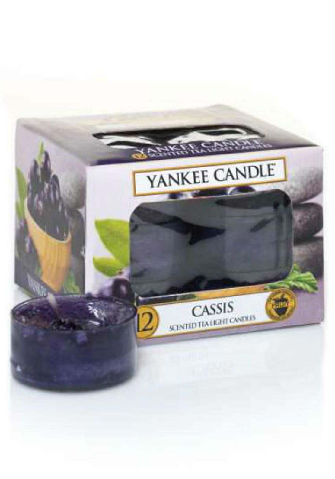 Yankee Candle 12 Scented Tea Light Candles, Cassis