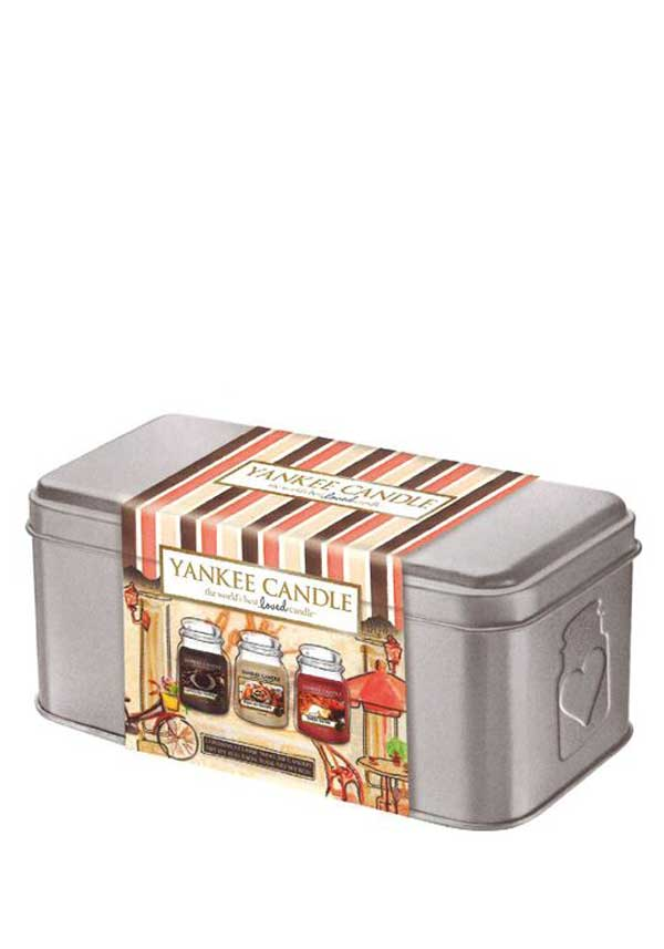 Yankee Candle Café Culture 3 Small Jar Tin Gift Set