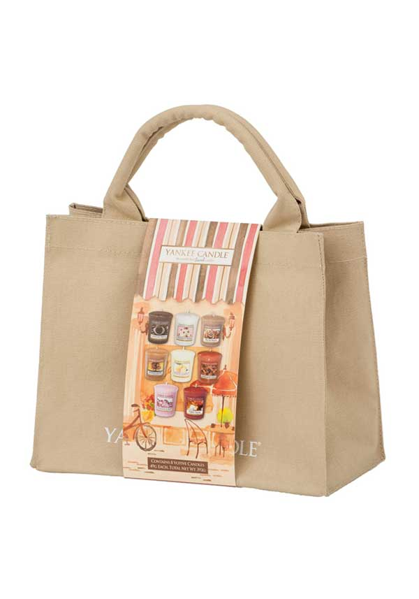 "Yankee Candle ""Café Culture"" 8 Votive Jute Gift Bag"