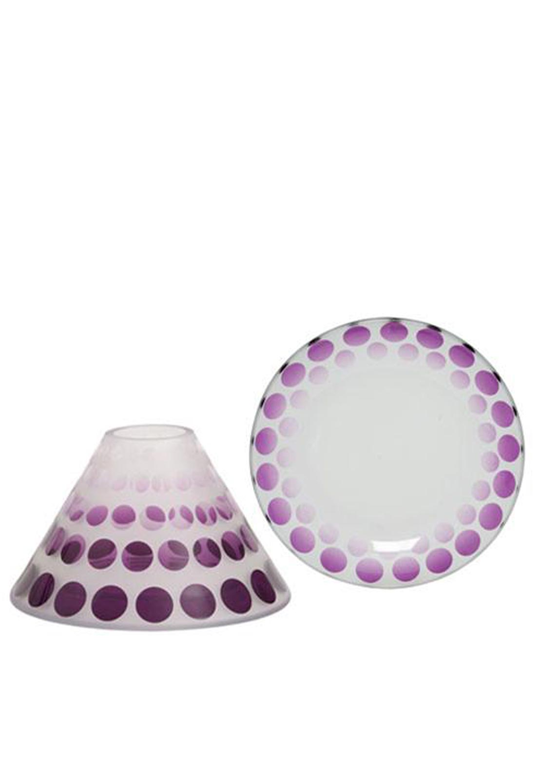 Yankee Candle Pure Essence Shade & Tray, Purple