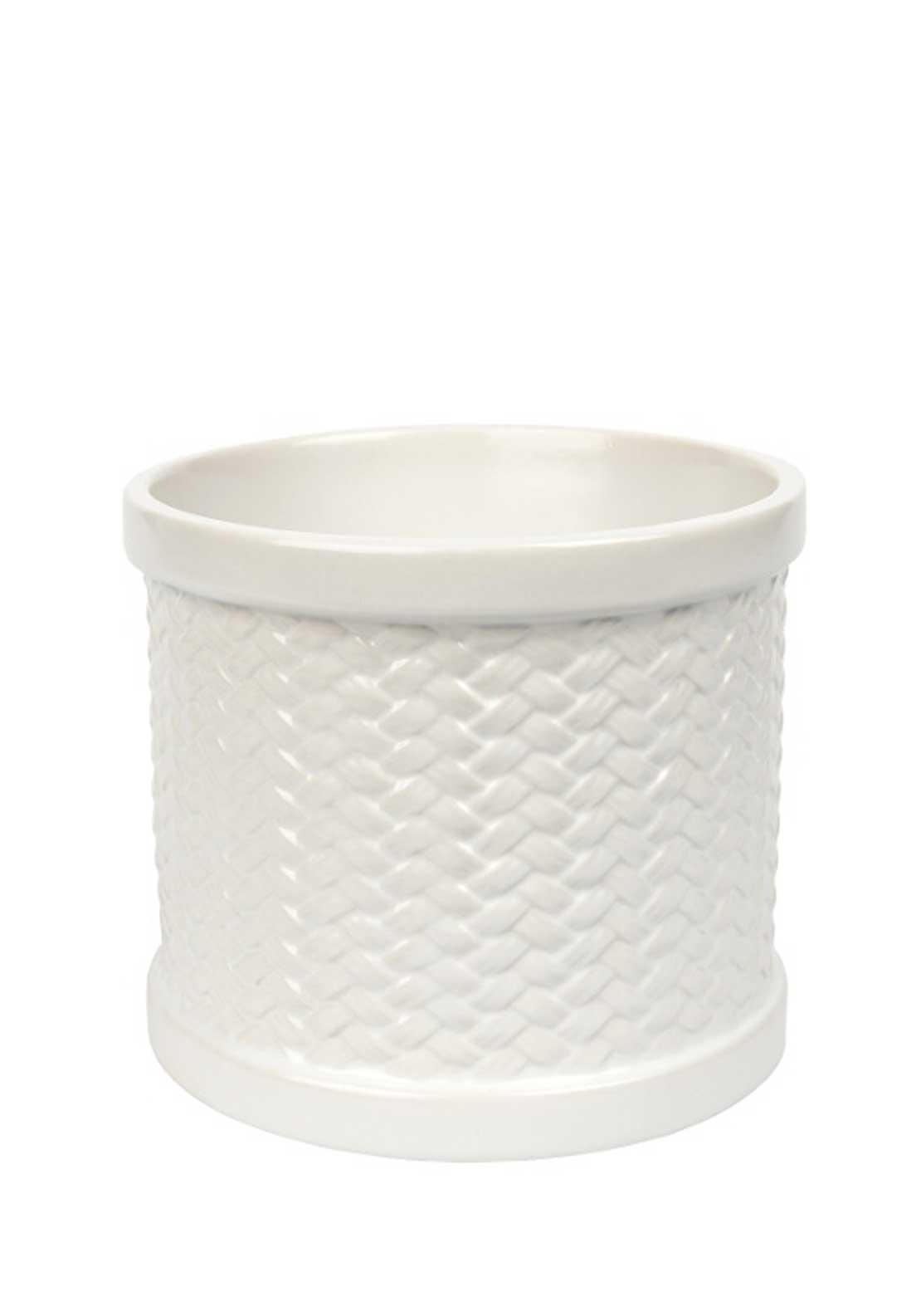 Yankee Candle Scenterpiece Easy Meltcup Warmer Weave, White