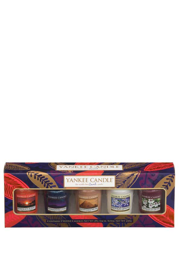 Yankee Candle Out of Africa 5 Votive Gift Set