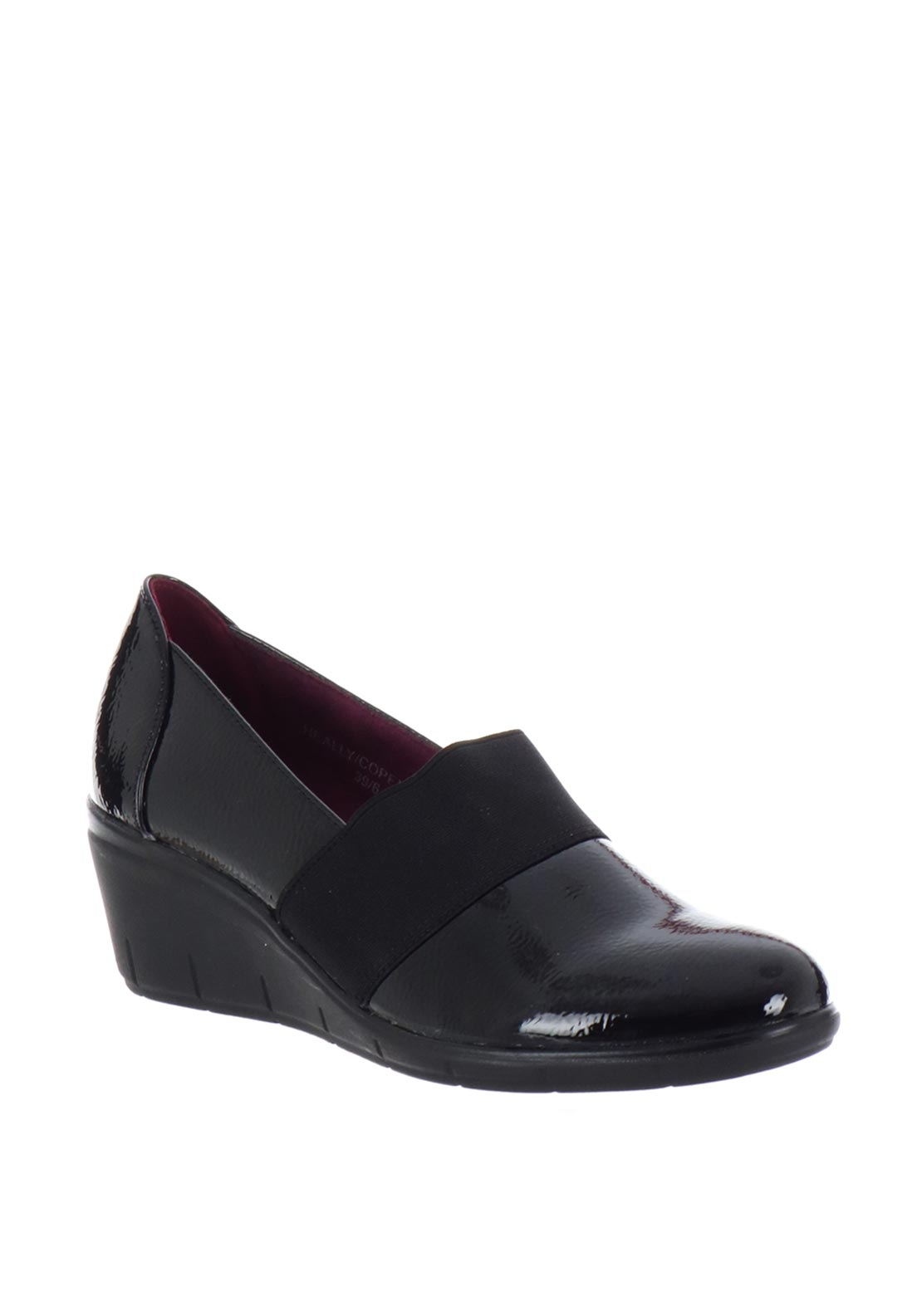 Zanni & Co. Heally Patent Comfort Shoes, Black