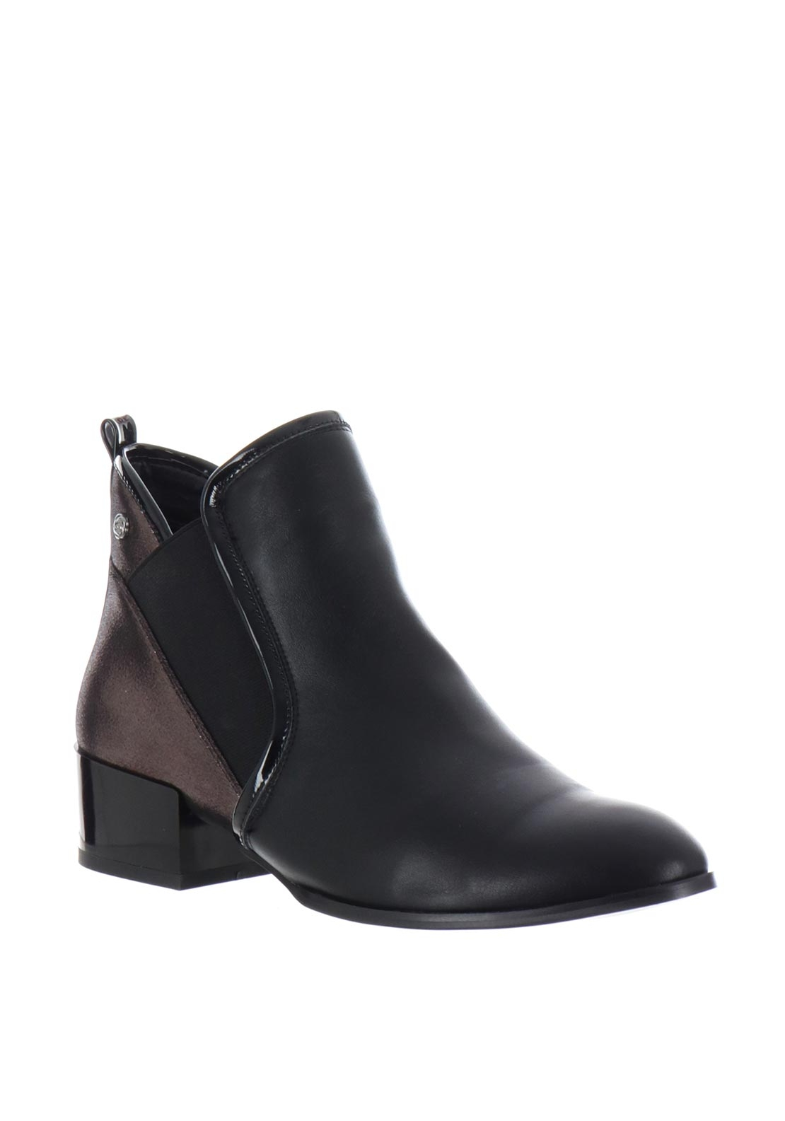 Zanni & Co. Platinum Chelsea Boots, Black