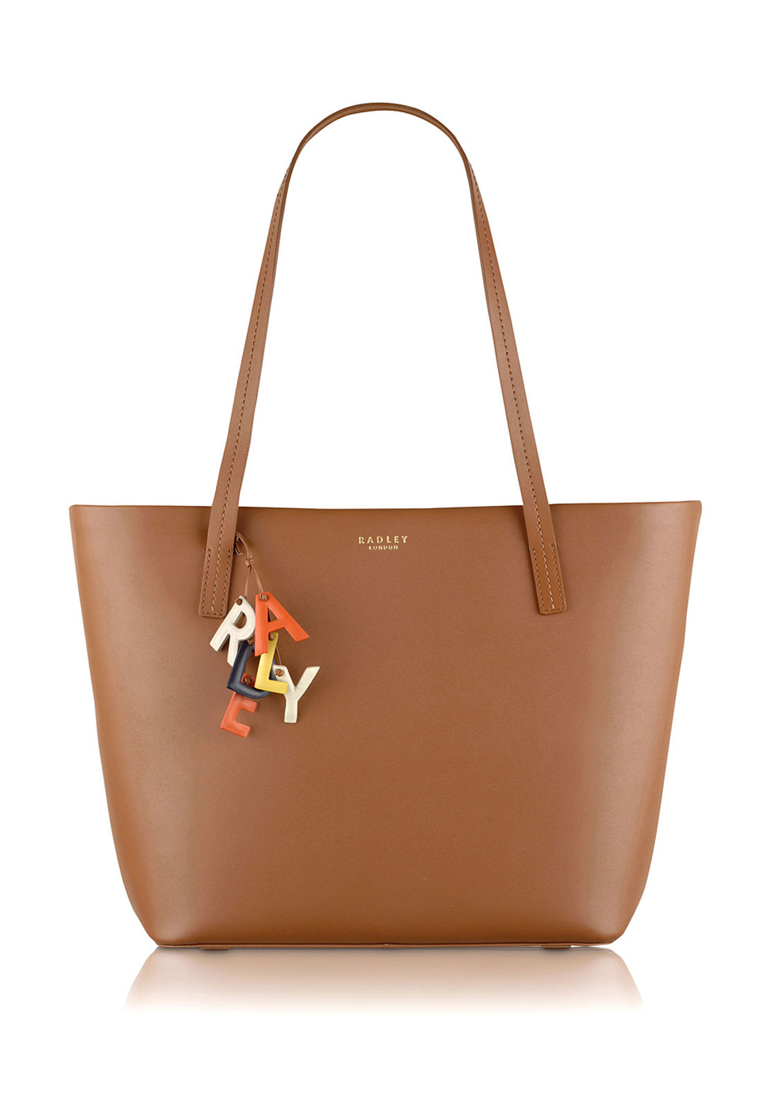 Radley Large Zip Top Tote Bag, Tan
