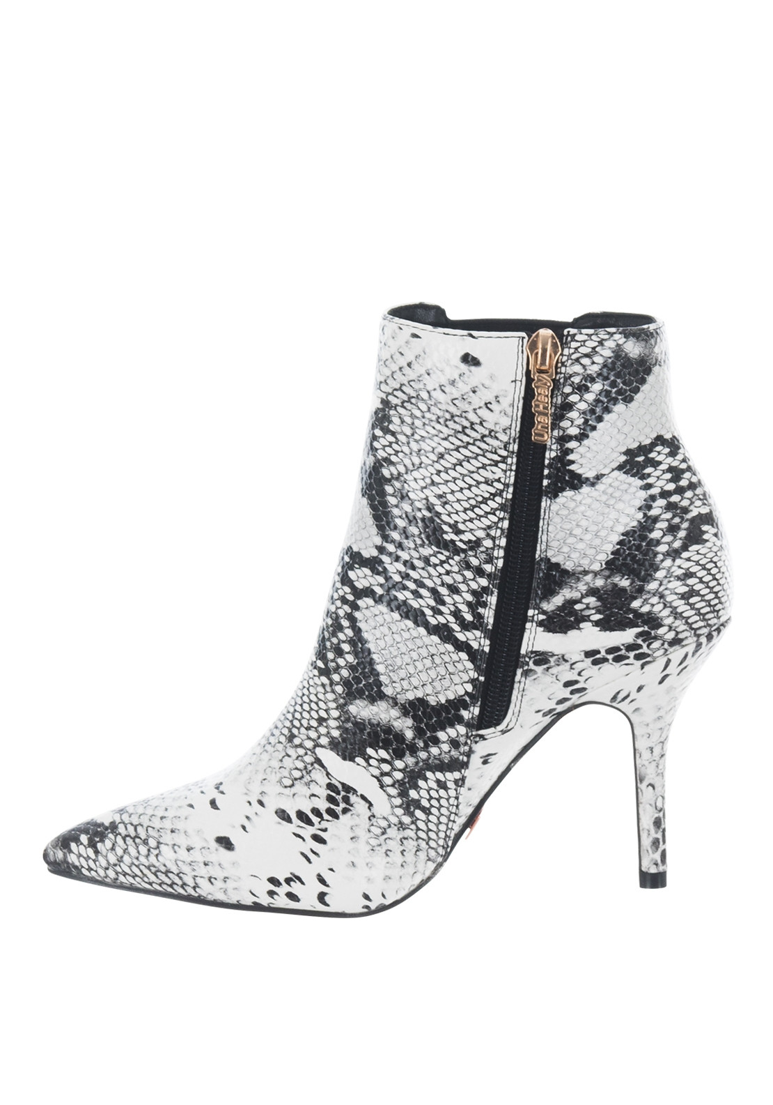 Una Healy Any Girl Heeled Snake Print Boots, White & Black