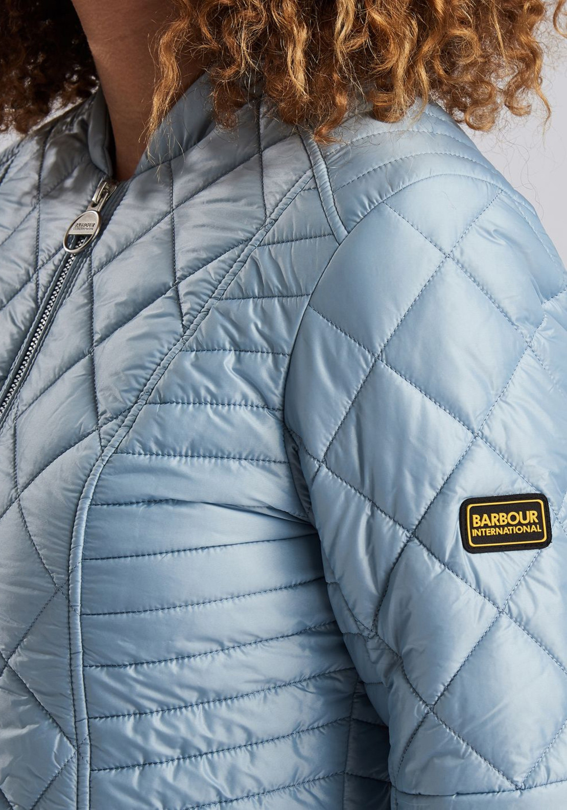 cdfc3bc65 Barbour International Sprinter Quilted Jacket, Ice Blue