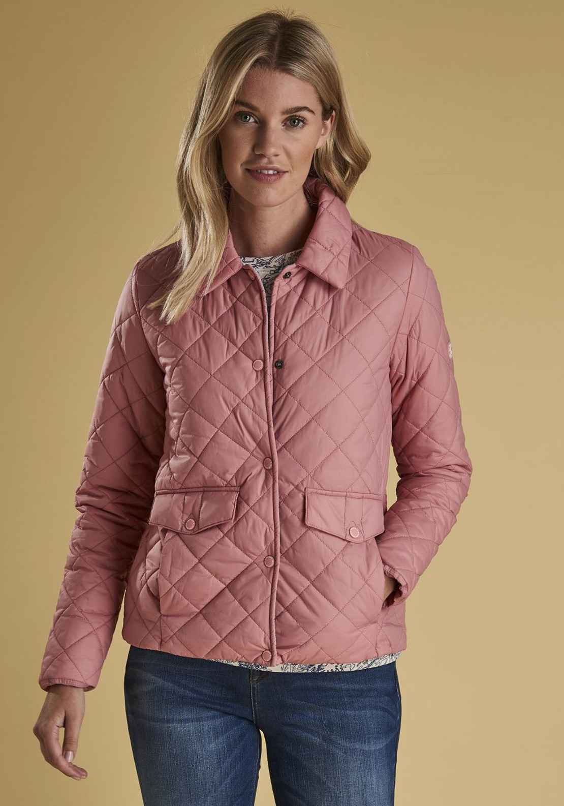 Barbour Womens Overwash Quilted Jacket Vintage Rose