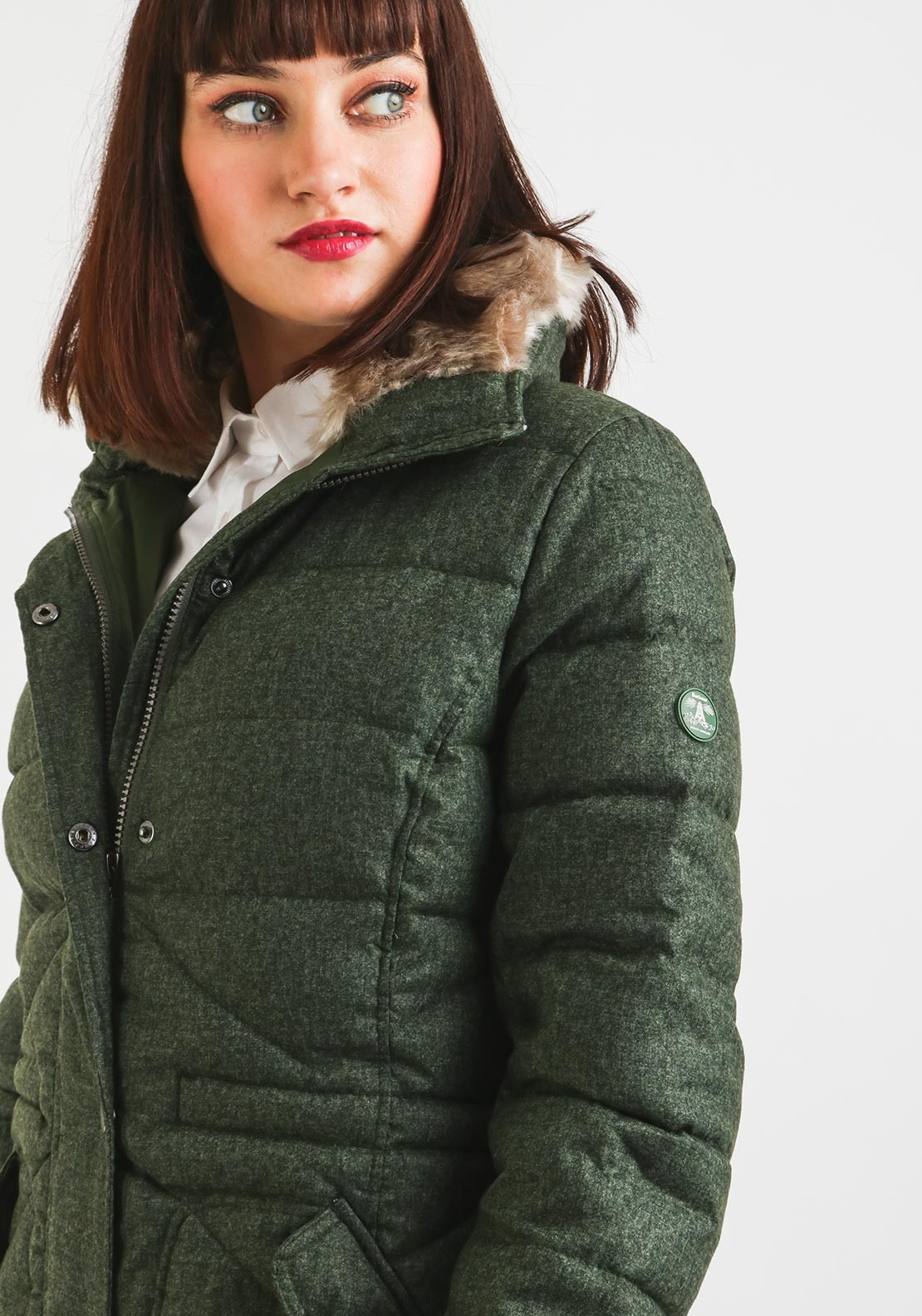 Barbour Womens Langstone Quilted Jacket Green Mcelhinneys