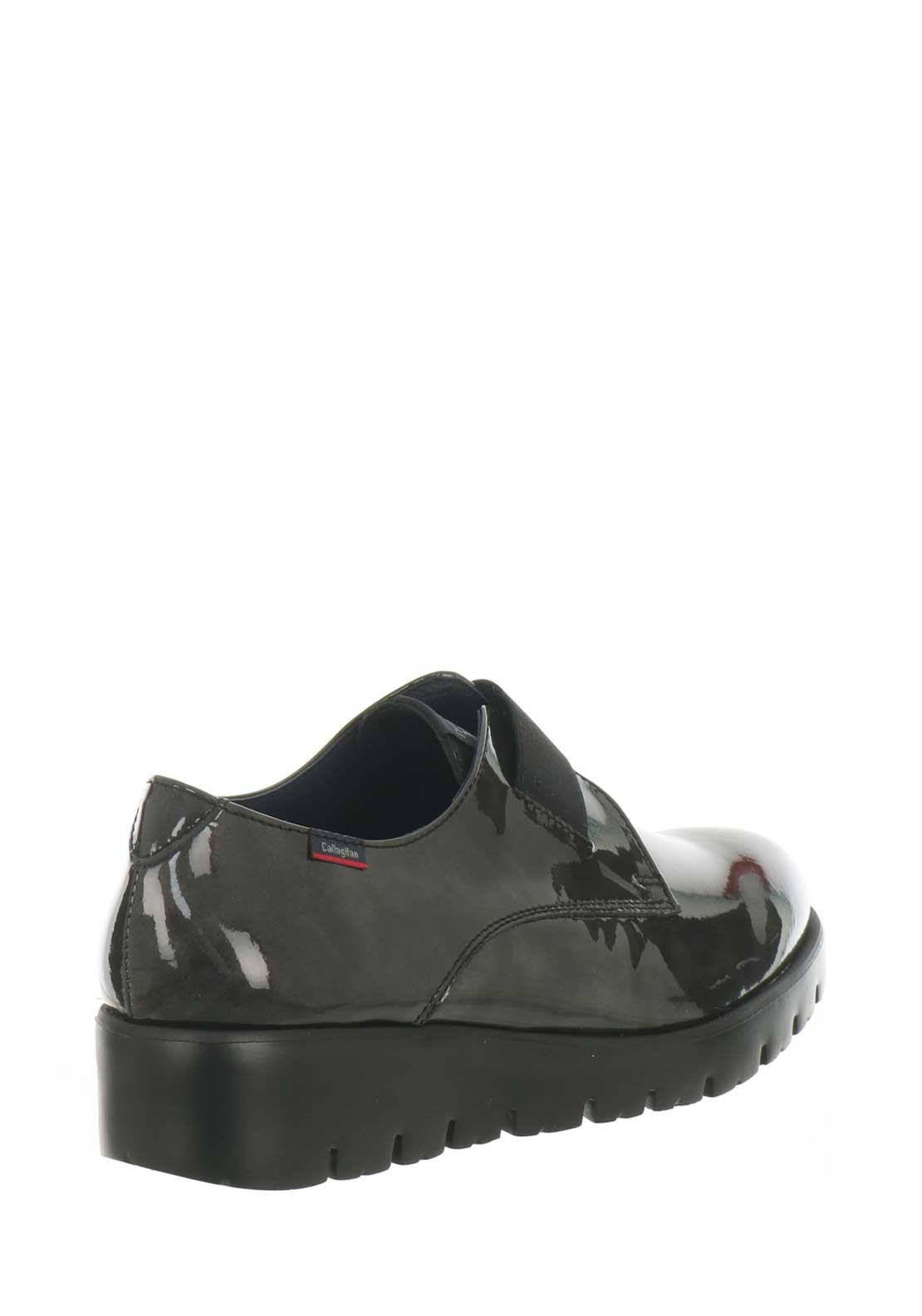 Callaghan Womens Leather Patent Shoes, Pewter | McElhinneys